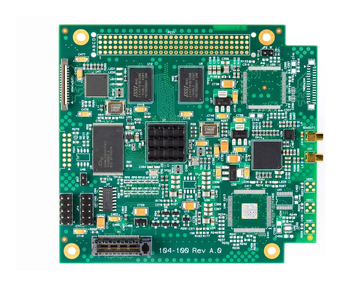 HDGrabberX-SDI - HD-SDI Video Frame Grabber for PCIe/104 - Advanced ...